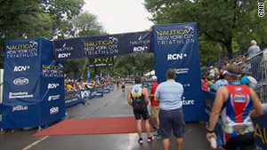 The Nautica New York City Triathlon is an Olympic distance race, consisting of a swim, a bike ride and a run.