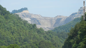 About one-third of West Virginia's coal is mined from mountaintop sites like this one.