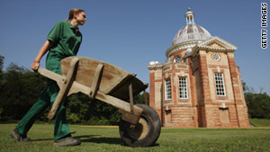 Garden apprentices in England worked on the restoration of Wrest Park, a 92-acre historic landscape garden.