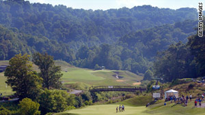 The Pete Dye Golf Course in Bridgeport, West Virginia, was built on the site of a former mountaintop mine.