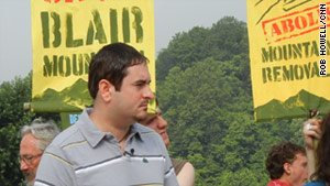 Chuck Keeney helped to organize a march to stop mountaintop removal and preserve Blair Mountain.