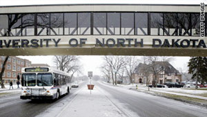The University of North Dakota, located in Grand Forks, is the winner of seven national championships in men's ice hockey.
