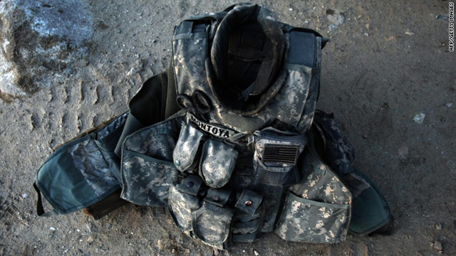 The bullet-resistant plates in question are used in the body armor vests worn by virtually every soldier in Iraq and Afghanistan.