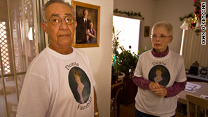 Buddy and Renee Morris wore T-shirts memorializing Fairchild to council meetings until City Hall changed hands this summer.