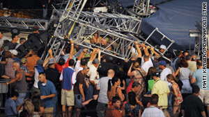 Five people died in the immediate aftermath of the August 13 stage collapse. Two additional victims have since died.