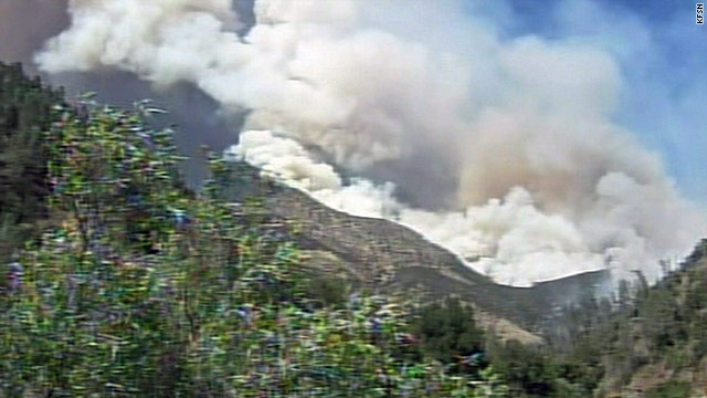 Fire crews are battling a large wildfire near Yosemite National Park.