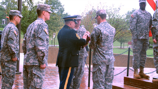The flag was lowered for the final time Saturday as Walter Reed Army Medical Center closed it doors.