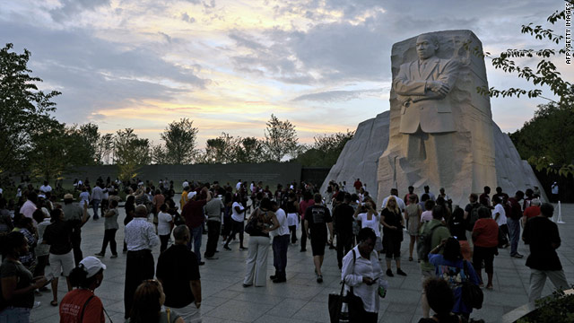 "The Martin Luther King, Jr. sculpture was to be dedicated on the 48th anniversary of King's ""I Have a Dream"" speech."
