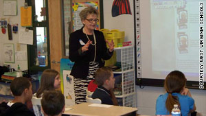 New state schools Superintendent Jorea Marple teaches in a West Virginia classroom in 2011.