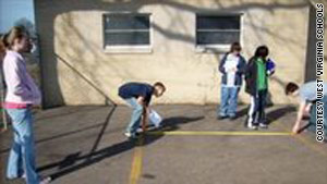 West Virginia students work on a project-based learning plan to improve a parking lot.