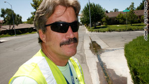 "Kevin Perry's official title is ""waste water investigator,"" but he's known around town as the ""water cop."""