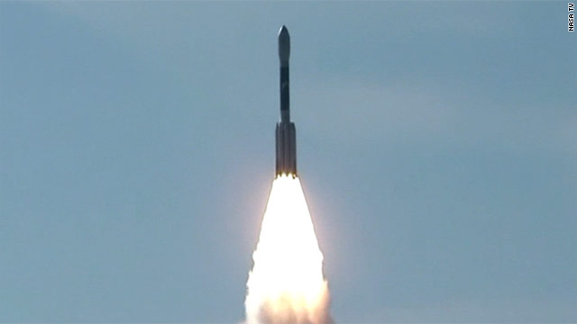 Two lunar orbiters are aboard a United Launch Alliance Delta II rocket, which launched from Cape Canaveral, Florida.
