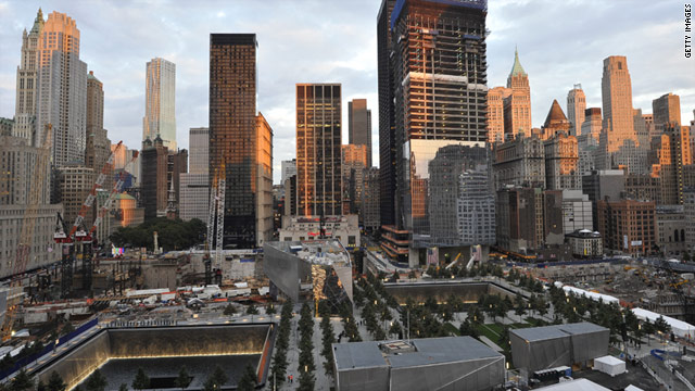 The Ground Zero Memorial is seen in Manhattan
