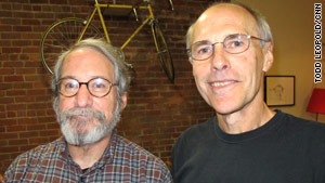 Joe Gable, right, set the tone for Borders. Robert Teicher, left, was the chain's longtime fiction buyer.