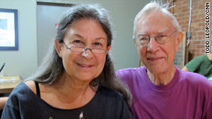 "Be Kaimowitz, shown with partner Ed Vandenberg, ""parked herself"" at Borders to get an interview."