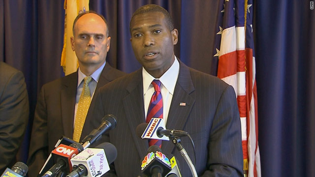 Tony West, assistant U.S. attorney general of the Civil Division of the Department of Justice, talks to reporters on Monday.