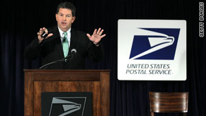 Postmaster General Patrick Donahoe discusses the proposal at Postal Service headquarters in Washington on Thursday.