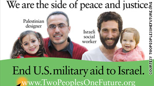 Posters opposing Israeli aid appeared in 18 subway stations across New York City this week.