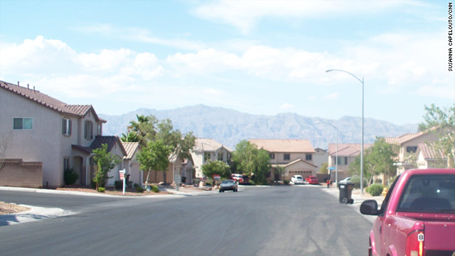 Coburn Street in North Las Vegas, Nevada, is in an area with a high foreclosure rate.