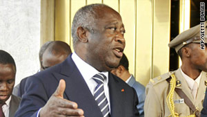 Laurent Gbagbo of the Ivory Coast is being warned he faces military intervention if he doesn't step down.