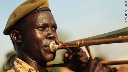 Sudanese trombone player