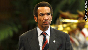 Botswana President Seretse Khama Ian Khama, pictured, has invited Alassane Ouattara for an official state visit.