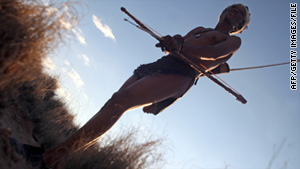 The Bushmen are traditional hunter-gatherers indigenous to arid regions of southern Africa.