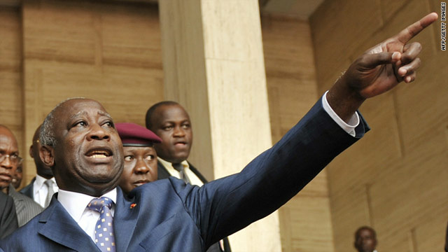 Incumbent Ivorian President Laurent Gbagbo has been urged to relinquish power.