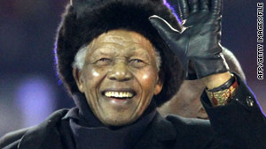 Mandela was last seen in public at last year's World Cup finals.