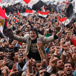Egypt's military leaders meet as angry protesters mass