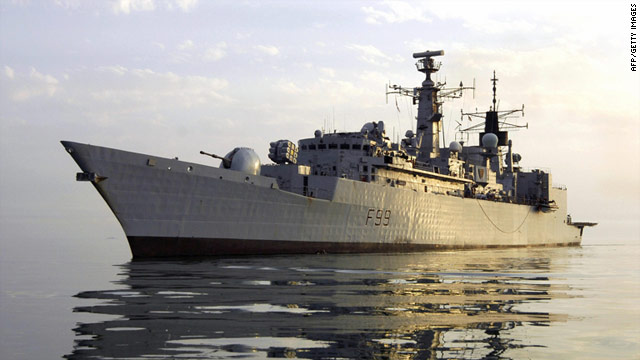A 2007 file photo of the British Navy frigate HMS Cornwall on station in the Persian Gulf.