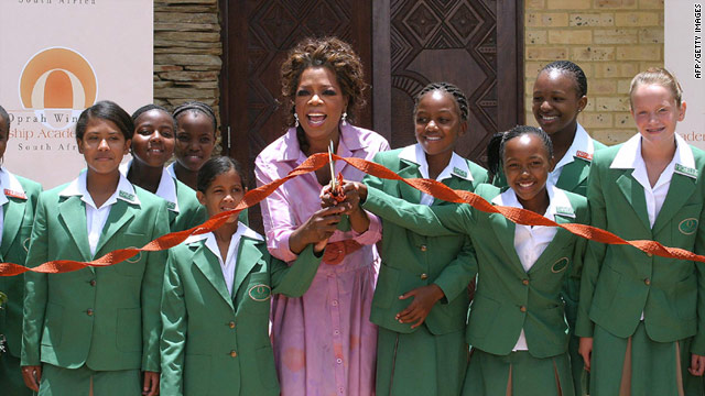 Oprah Winfrey opened the multi-million dollar school for poor South African girls on January 2, 2007.