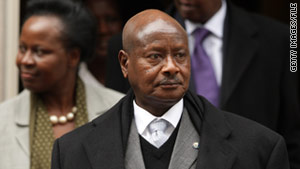 Uganda's electoral commission on Sunday declared that President Yoweri Museveni had won another term.