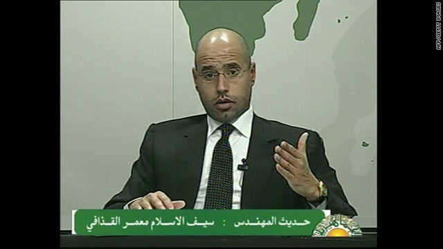 Moammar Gadhafi's second eldest son was first to speak to the nation about the unrest and detail a plan to address it.