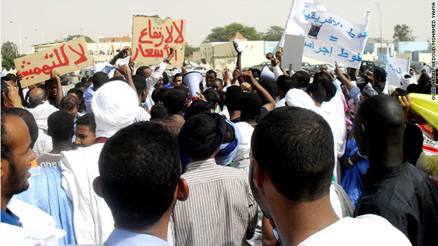 Mauritanians call for social and political reforms during demonstrations on Saturday in Nouakchott.