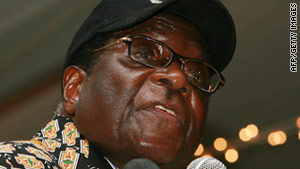 A planned protest against Zimbabwe President Robert Mugabe failed to take place Tuesday.