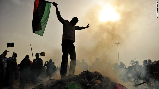 Protesters have taken control of several key cities across Libya, but government forces appear to be fighting back.