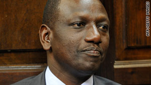 Ex-Kenyan Agriculture Minister William Ruto is among six men summoned.