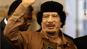 Libyan leader Moammar Gadhafi has vowed to die a martyr on Libyan soil.