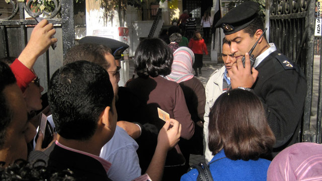 Egyptians wait to vote in Cairo on March 19 in the first democratic initiative after the fall of Hosni Mubarak's regime.