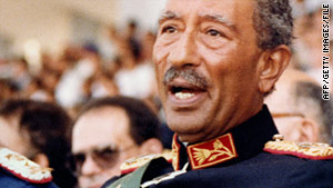 Egyptian President Anwar Sadat was assassinated in 1981.
