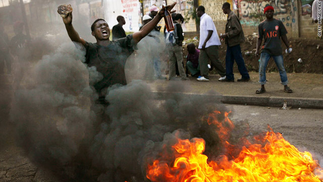 A file photo from January, 2008 shows the violence that consumed Nairobi following contested elections in December 2007.