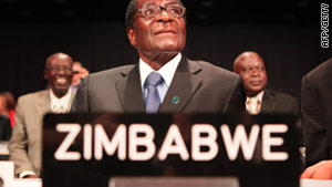 President Robert Mugabe's ZANU-PF party is accused by the Movement for Democratic Change of sending 'thugs' to a rally.