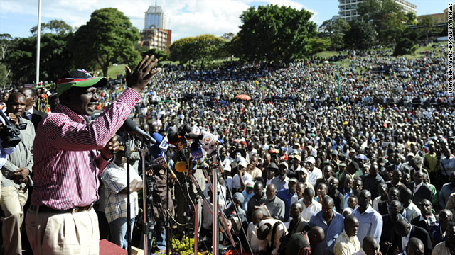 William Ruto addresses supporters on Monday in Nairobi after his return from the International Criminal Court at The Hague.