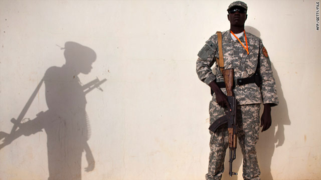 A member of the Sudan People's Liberation Army (pictured in January) in Southern Sudan.