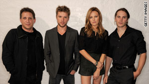 Director Steven Silver, from left, and actors Ryan Phillippe, Malin Akerman and Taylor Kitsch at the film's U.S. premiere.