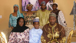 Amina and Isa Odidi with their children.