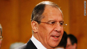 Sergey Lavrov (pictured) was speaking after a meeting with Libyan opposition spokesman Abdel Rahman Shalgam.