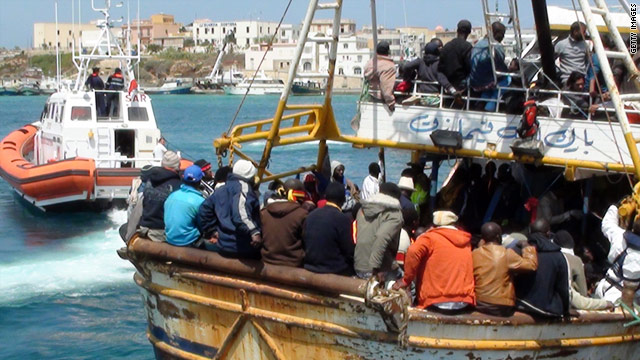 Hundreds of migrants have fled Libya by boat since the start of the country's civil war.