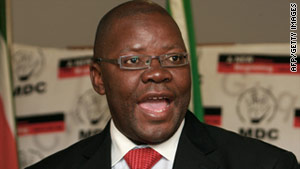 Finance Minister Tendai Biti was appointed to the post by Prime Minister Morgan Tsvangirai.